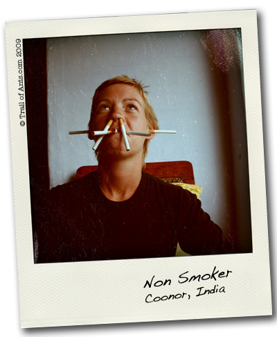 Smoking Backpacker